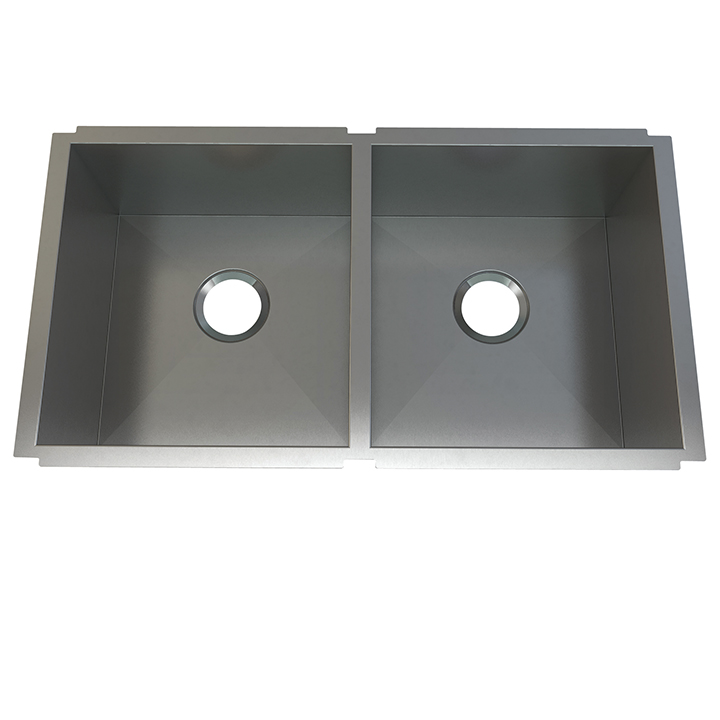 Atelier stainless steel double bowl - undermount