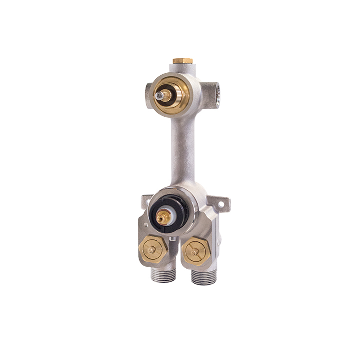 TURBO thermostatic valve with 2 or 3-way diverter