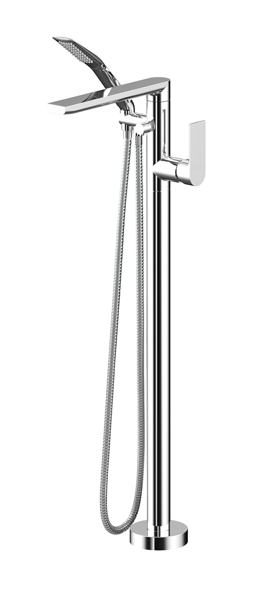 Floormount tub filler with handshower