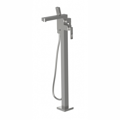 Floormount tub filler with handshower and CRYSTAL