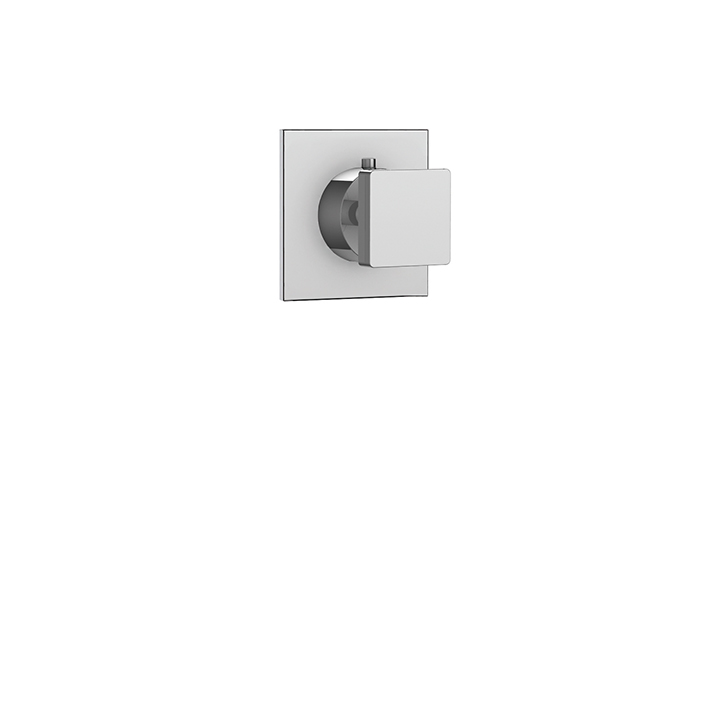 Square trim set for #61934 independent diverter, 3-way, shared functions