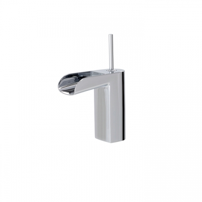 Medium single-hole lavatory faucet