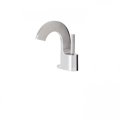 Short single-hole lavatory faucet